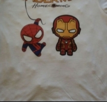 polera estampada iron man spider man
