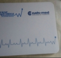 Mousepad corporativo para empresa ABM MEDICAL.
